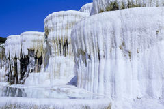 Pamukkale Limestone Terraces in Turkey Royalty Free Stock Photos