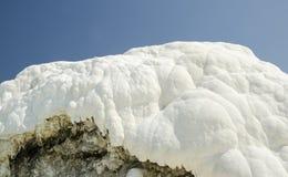 Pamukkale limestone walls and hills Royalty Free Stock Photo