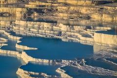 Pamukkale mineraler Arkivbild