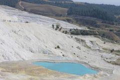 Pamukkale natürliche Seen in Hierapolis die Türkei Lizenzfreies Stockfoto