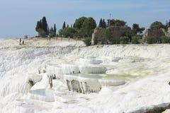Pamukkale natural lakes in Hierapolis Turkey Stock Image