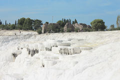 Pamukkale natural lakes in Hierapolis Turkey Stock Images