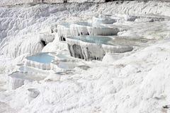 Pamukkale natural lakes in Hierapolis Turkey Royalty Free Stock Photos
