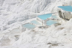Pamukkale natural lakes in Hierapolis Turkey Royalty Free Stock Photography