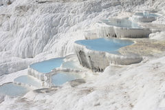 Pamukkale natural lakes in Hierapolis Turkey Stock Image