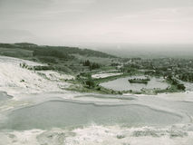 Pamukkale natural lakes in Hierapolis Turkey Royalty Free Stock Image