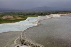 Pamukkale. Natural pools in Turkey, Asia Stock Photos