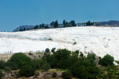 Pamukkale, natural site in Denizli Province in southwestern Turkey. Royalty Free Stock Images