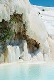 Pamukkale, natural site in Denizli Province in southwestern Turkey. Royalty Free Stock Photo