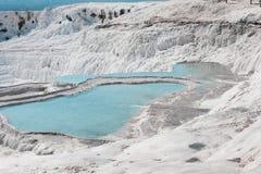 Pamukkale naturalni jeziora w Hierapolis Turcja Zdjęcia Stock