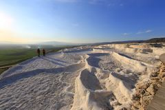 Pamukkale Natuurreservaat Turkije stock fotografie