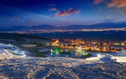 Pamukkale in night Stock Images