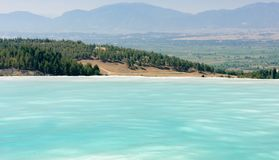 Pamukkale pools and terraces Stock Photos