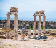 Pamukkale-Ruinen Stockfoto