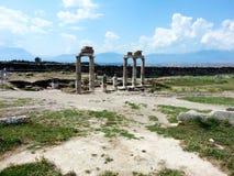 Pamukkale-Ruinen Stockbild