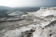 Pamukkale salt terraces Stock Photos