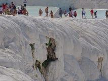 Pamukkale 2017, September Världsarvet av UNESCO arkivbild