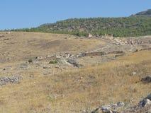 Pamukkale 2017, settembre Il sito del patrimonio mondiale dell'Unesco fotografie stock libere da diritti