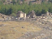 Pamukkale 2017, settembre Il sito del patrimonio mondiale dell'Unesco fotografie stock
