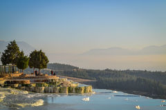 Pamukkale Sunset Royalty Free Stock Photos