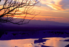 Pamukkale sunset Royalty Free Stock Images
