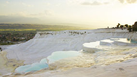Pamukkale sunset Stock Image