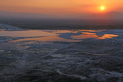 Pamukkale Sunset Royalty Free Stock Photo