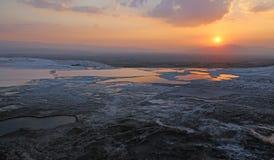 Pamukkale Sunset Vista Stock Photos