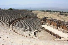 Pamukkale teater Arkivbild