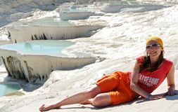 Pamukkale terrace Royalty Free Stock Image