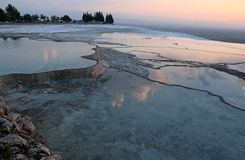 Pamukkale Terrace Pool Reflection Royalty Free Stock Photos