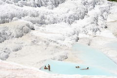 Pamukkale terraces Royalty Free Stock Photo