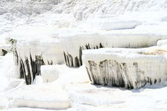 Pamukkale terraces Royalty Free Stock Images