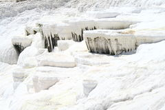 Pamukkale terraces Stock Images