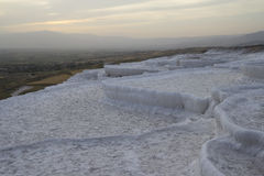 Pamukkale,terraces of carbonate minerals without water, Turkey Stock Photos