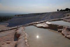 Pamukkale Terraces Sunburst Royalty Free Stock Photos