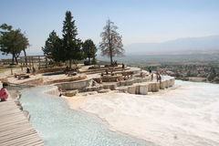 Pamukkale terraces, Turkey Royalty Free Stock Photo