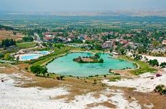 Pamukkale town, Turkey Royalty Free Stock Photos