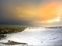 Pamukkale Travertens Obrazy Royalty Free