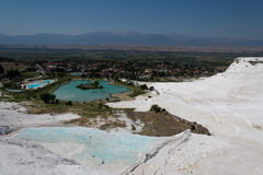 Pamukkale Travertine lizenzfreies stockbild