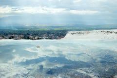 Pamukkale-Travertine in Denizli, die Türkei Lizenzfreies Stockfoto