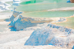 Pamukkale travertine filled with water Royalty Free Stock Photos