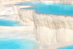 Pamukkale travertine pools. Natural travertine pools and terraces, Pamukkale, Turkey Royalty Free Stock Images