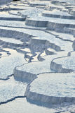 Pamukkale travertine terraces Royalty Free Stock Photo