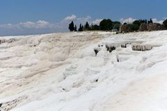 Pamukkale travertine terraces, Turkey Stock Photography