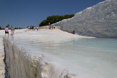 Pamukkale travertines Royaltyfria Foton