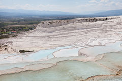 Pamukkale Travertines natural travertne pool. Royalty Free Stock Photo