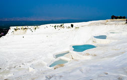 Pamukkale - travertines terrace in Turkey Royalty Free Stock Images
