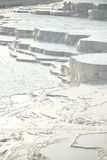 Pamukkale Travertinterrassen Stockbilder