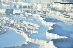 Pamukkale Travertinterrassen Stockfoto